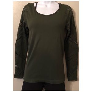 Fabletics Army Green Top.